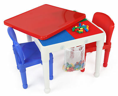 Tot Tutors 2-in-1 Construction Table and 2 Chairs Set