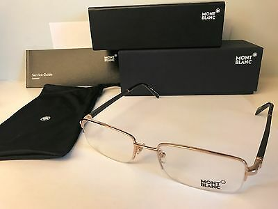 New MONT BLANC MB294 032 Gold Rx Rimless Eyeglasses, 55-19-140mm