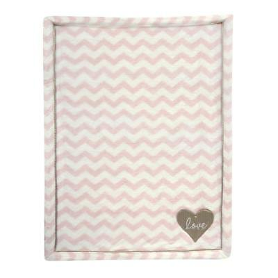 Lambs & Ivy(R) Baby Love Pink/Gold Heart Blanket