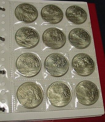 HUTT RIVER PROVINCE Banknotes and 30 different medals in album.