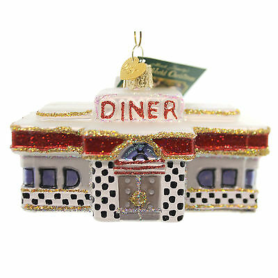 Old World Christmas DINER Glass Glass Ornament 1950 Fifties 20071