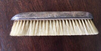 "Antique Solid Silver Backed Clothes Brush 6.""Long"