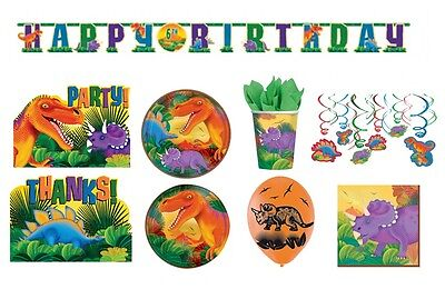 PREHISTORIC Birthday PARTY NEW Tableware Balloons Decorations Supplies