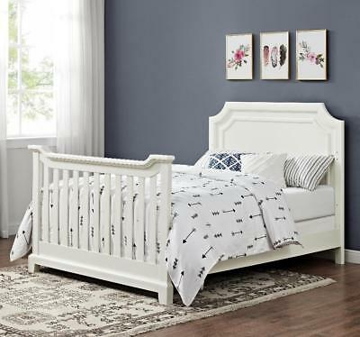 Bertini Lafayette Wooden Full Size Bed Conversion Kit - French White Lace