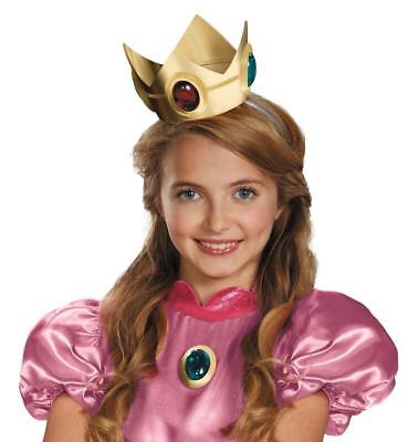 Super Mario Brothers Princess Peach Crown and Amulet Halloween Accessory