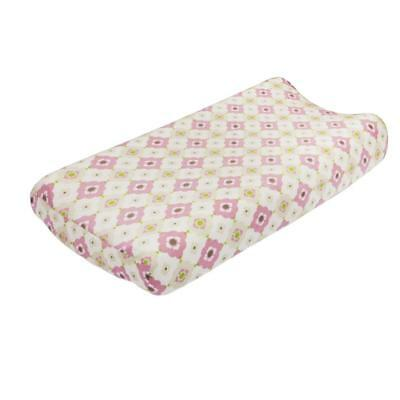 Petit Nest Penelope Pink Floral Changing Pad Cover