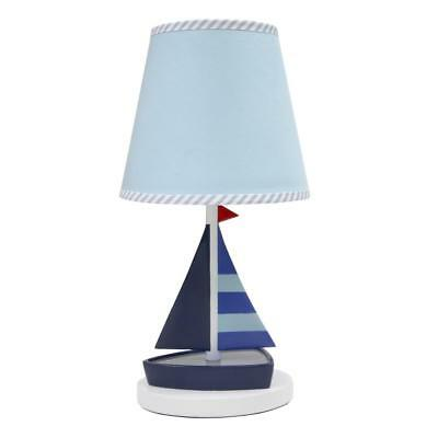 Lambs & Ivy(R) Regatta Navy/Blue Nautical Lamp with Shade and Bulb