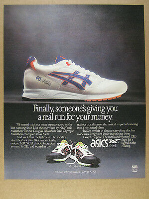 1991 Asics GEL-Saga Running Shoes color photo vintage print Ad