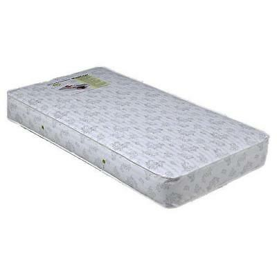 Child Craft 88 Coil Crib and Toddler Mattress with Border Rod