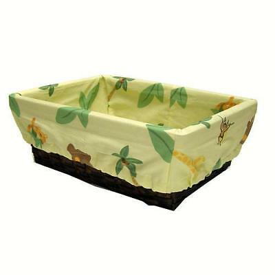 NoJo Jungle Babies Nursery Basket with Liner