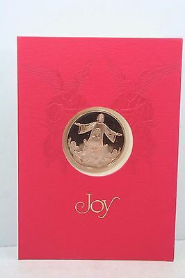 1980 Solid Bronze Franklin Mint Christmas Token The Holy Family