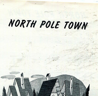 North Pole Town  1950 sheet music