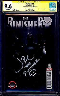 Punisher #1 LIMITED EDITION COMIX VARIANT CGC SS 9.6 signed Jon Bernthal NETFLIX