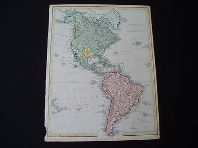1838c Becker Map America Republic of Texas United States Canada 179 Yrs Old Rare