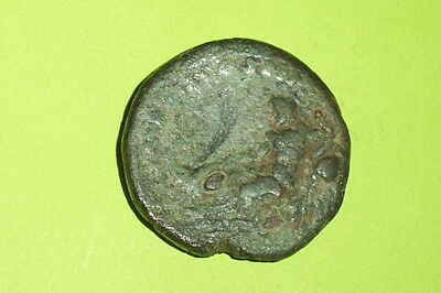 HUGE Ancient ROMAN COIN of MARCUS AURELIUS boat TIBER RIVER GOD rare ae as old