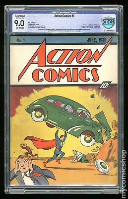 Action Comics (1938 DC) #1 CBCS 9.0 RESTORED