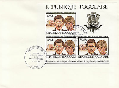 (11553) Togo FDC Princess Diana Royal Wedding 29 July 1981