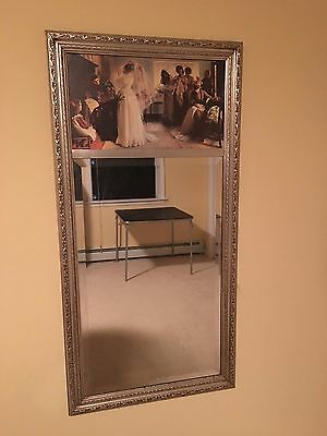 Vintage Antique Bridal Mirror Silver Gilded