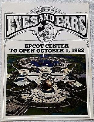 Rare Oct 1978 Disney Wdw Eyes & Ears Cast Newsletter Epcot Plans Announced