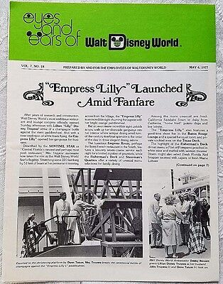 Rare May 1977 Disney Wdw Eyes & Ears Cast Newsletter Empress Lilly Opens