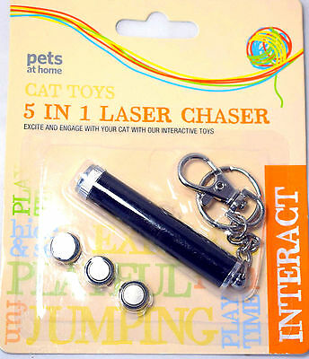 Lazer 5 in 1 Laser Pointer Red Light Pen Pet Cat Kitten Toy PETS NEW 1mW MAX