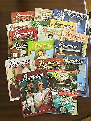 Reminisce Magazine LOT of 18 2006-2009 Brings Back the Good Times