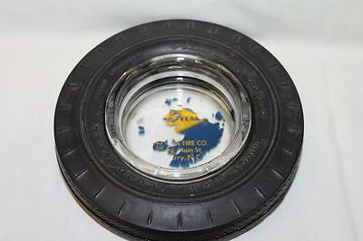 Vintage Goodyear Tire Ashtray with glass insert Custom Super Cushion