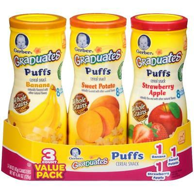 Gerber Graduates Puffs Cereal Snack Naturally Flavored with Other Natural Flavor