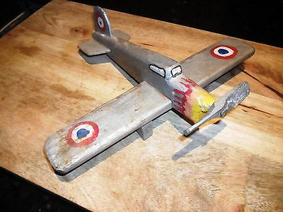 RAF Australian 'Hand-made' 'Hand-painted' Wooden Model Plane-Unique-Propeller.