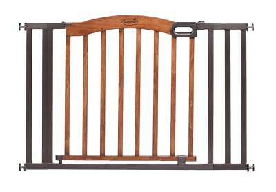 Summer Infant 36-60 inch Decorative Wood and Metal Gate - Natural and Espresso