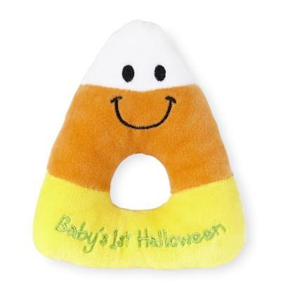 "Koala Baby ""Baby's 1st Halloween"" Candy Corn Ring Rattle"