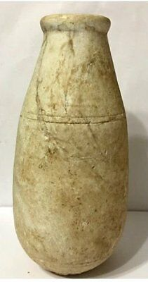 Large Ancient Egyptian alabaster Alabastron .