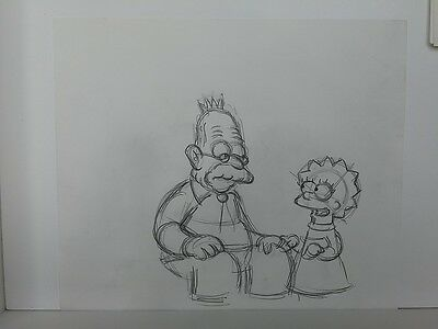 SIMPSONS TV Show Original Animation Art Cel Drawing Lisa #37