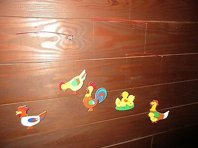 Vintage Germany Chicken Mobile Hanging Decorations