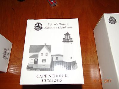 rare 1999 Cape Neddick NUBBLE LIGHT LIGHTHOUSE figurine Geo. Z. Lefton CCM12415