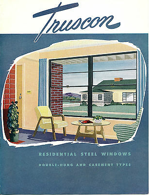Vintage Truscon Residential Steel Windows Brochure 1950 Mid Century Youngstown