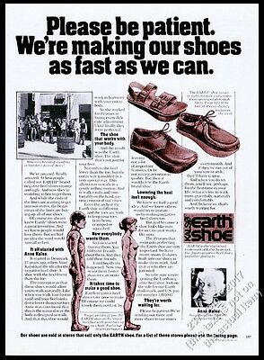 1974 Earth Shoes Anne Kalso photo vintage print ad