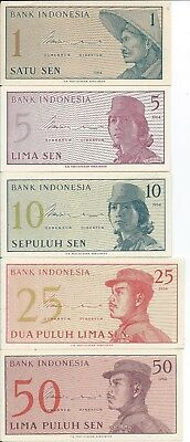Indonesia 11 different uncirculated banknotes