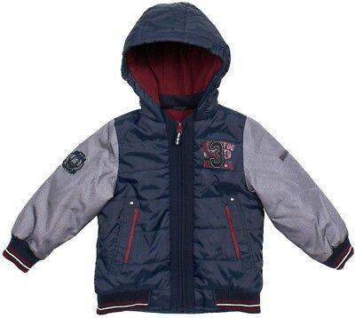 London Fog Toddler Boys Varsity Jacket Size 6 Hooded Navy Midweight NWT
