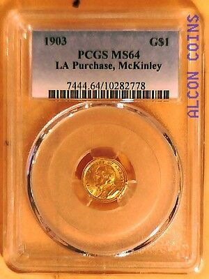 1903 $1 DOLLAR LOUISLANA PURCHASE , McKinley  IN PCGS MS64 GOLD COMMEMORATIVE