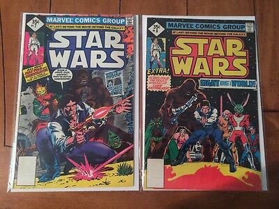 Star Wars 7 8 Marvel 1978 1st Print Chewbacca Han Solo Wanted