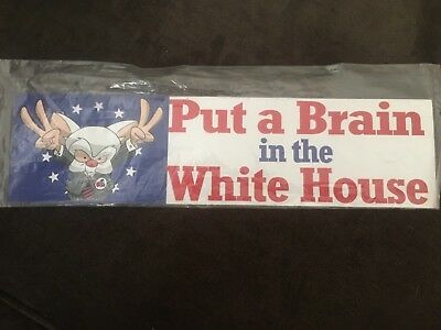 "Pinky And The brain ""Put A brain In The Whitehouse"" Magnetic Sticker Warner Bros"
