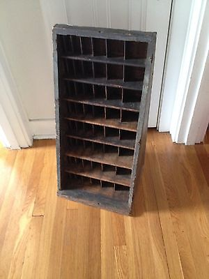 Antique Vintage Letterpress Printer's Type Furniture Storage Cabinet Shadow Box