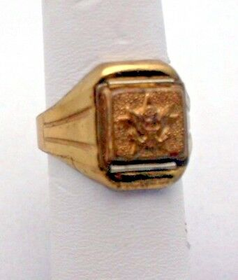 Lone Ranger Ring  1940s Army Secret Compartment Photo Ring Vintage