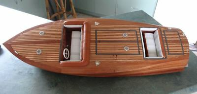 Equipage Venice 90 Handbuilt Wood Timber Vintage 1940s Speed Boat 92cm long