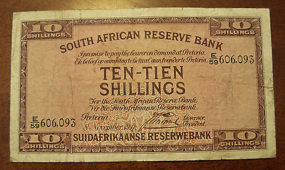 South Africa 1941 10 Shillings Note P82d
