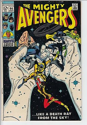 "Marvel The Mighty Avengers #64 May1969 ""Like A Death Ray From The Sky"" VG/FN 5.0"
