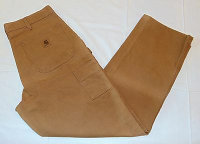 MEN'S CARHARTT WASHED DUCK CARPENTER STYLE UTILITY DUNGAREE WORK PANTS - 34 x 32