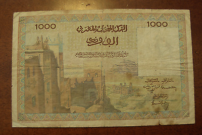 Morocco 1956 1000 Francs Note P47a