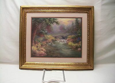 """Home Interior Homco """"Rainbow Valley"""" Picture(DS)""""I Come to The Garden Alone"""""""